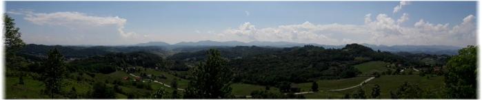 Hrvatsko zagorje, pogled s Velikog Tabora